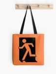 Running Man Fire Safety Exit Sign Emergency Evacuation Tote Shoulder Carry Bag 40