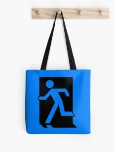 Running Man Fire Safety Exit Sign Emergency Evacuation Tote Shoulder Carry Bag 41