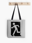 Running Man Fire Safety Exit Sign Emergency Evacuation Tote Shoulder Carry Bag 42
