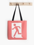 Running Man Fire Safety Exit Sign Emergency Evacuation Tote Shoulder Carry Bag 44