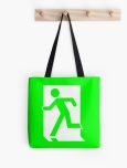 Running Man Fire Safety Exit Sign Emergency Evacuation Tote Shoulder Carry Bag 47