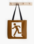 Running Man Fire Safety Exit Sign Emergency Evacuation Tote Shoulder Carry Bag 48