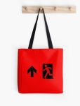 Running Man Fire Safety Exit Sign Emergency Evacuation Tote Shoulder Carry Bag 49