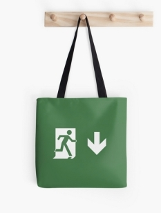 Running Man Fire Safety Exit Sign Emergency Evacuation Tote Shoulder Carry Bag 5