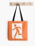Running Man Fire Safety Exit Sign Emergency Evacuation Tote Shoulder Carry Bag 50