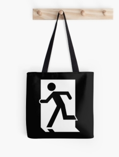 Running Man Fire Safety Exit Sign Emergency Evacuation Tote Shoulder Carry Bag 51