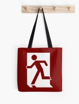 Running Man Fire Safety Exit Sign Emergency Evacuation Tote Shoulder Carry Bag 52