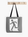 Running Man Fire Safety Exit Sign Emergency Evacuation Tote Shoulder Carry Bag 53