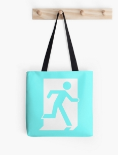 Running Man Fire Safety Exit Sign Emergency Evacuation Tote Shoulder Carry Bag 54