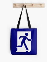 Running Man Fire Safety Exit Sign Emergency Evacuation Tote Shoulder Carry Bag 55