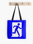 Running Man Fire Safety Exit Sign Emergency Evacuation Tote Shoulder Carry Bag 56