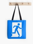 Running Man Fire Safety Exit Sign Emergency Evacuation Tote Shoulder Carry Bag 57