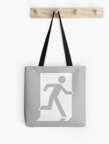 Running Man Fire Safety Exit Sign Emergency Evacuation Tote Shoulder Carry Bag 58