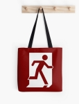 Running Man Fire Safety Exit Sign Emergency Evacuation Tote Shoulder Carry Bag 59