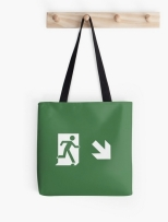 Running Man Fire Safety Exit Sign Emergency Evacuation Tote Shoulder Carry Bag 6