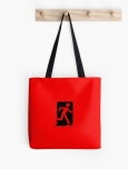Running Man Fire Safety Exit Sign Emergency Evacuation Tote Shoulder Carry Bag 60