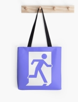 Running Man Fire Safety Exit Sign Emergency Evacuation Tote Shoulder Carry Bag 61