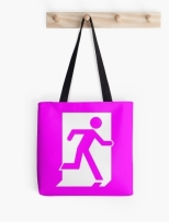 Running Man Fire Safety Exit Sign Emergency Evacuation Tote Shoulder Carry Bag 62