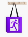 Running Man Fire Safety Exit Sign Emergency Evacuation Tote Shoulder Carry Bag 64