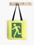 Running Man Fire Safety Exit Sign Emergency Evacuation Tote Shoulder Carry Bag 65