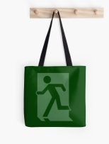 Running Man Fire Safety Exit Sign Emergency Evacuation Tote Shoulder Carry Bag 66