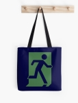 Running Man Fire Safety Exit Sign Emergency Evacuation Tote Shoulder Carry Bag 67