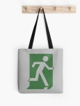 Running Man Fire Safety Exit Sign Emergency Evacuation Tote Shoulder Carry Bag 68