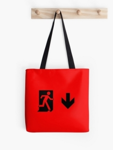 Running Man Fire Safety Exit Sign Emergency Evacuation Tote Shoulder Carry Bag 71