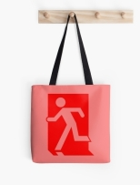 Running Man Fire Safety Exit Sign Emergency Evacuation Tote Shoulder Carry Bag 72