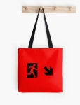 Running Man Fire Safety Exit Sign Emergency Evacuation Tote Shoulder Carry Bag 73