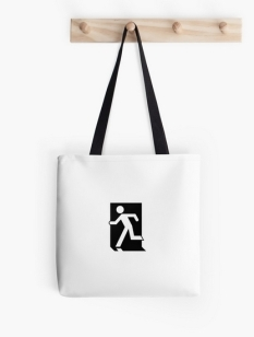 Running Man Fire Safety Exit Sign Emergency Evacuation Tote Shoulder Carry Bag 78