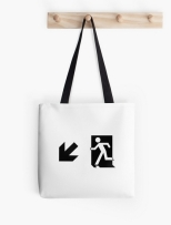 Running Man Fire Safety Exit Sign Emergency Evacuation Tote Shoulder Carry Bag 80