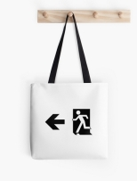Running Man Fire Safety Exit Sign Emergency Evacuation Tote Shoulder Carry Bag 82
