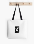 Running Man Fire Safety Exit Sign Emergency Evacuation Tote Shoulder Carry Bag 84