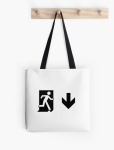 Running Man Fire Safety Exit Sign Emergency Evacuation Tote Shoulder Carry Bag 85