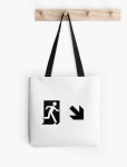 Running Man Fire Safety Exit Sign Emergency Evacuation Tote Shoulder Carry Bag 86