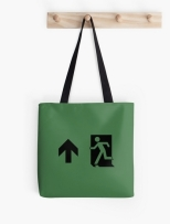 Running Man Fire Safety Exit Sign Emergency Evacuation Tote Shoulder Carry Bag 87