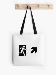 Running Man Fire Safety Exit Sign Emergency Evacuation Tote Shoulder Carry Bag 88