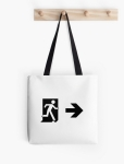 Running Man Fire Safety Exit Sign Emergency Evacuation Tote Shoulder Carry Bag 89