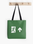 Running Man Fire Safety Exit Sign Emergency Evacuation Tote Shoulder Carry Bag 9