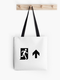 Running Man Fire Safety Exit Sign Emergency Evacuation Tote Shoulder Carry Bag 90