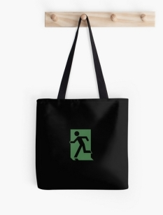 Running Man Fire Safety Exit Sign Emergency Evacuation Tote Shoulder Carry Bag 91
