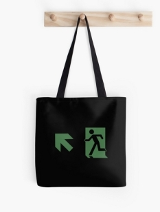 Running Man Fire Safety Exit Sign Emergency Evacuation Tote Shoulder Carry Bag 94