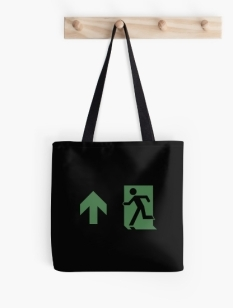 Running Man Fire Safety Exit Sign Emergency Evacuation Tote Shoulder Carry Bag 96