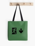 Running Man Fire Safety Exit Sign Emergency Evacuation Tote Shoulder Carry Bag 98