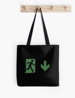 Running Man Fire Safety Exit Sign Emergency Evacuation Tote Shoulder Carry Bag 99