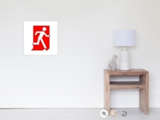 Running Man Fire Safety Exit Sign Emergency Evacuation Wall Poster 1