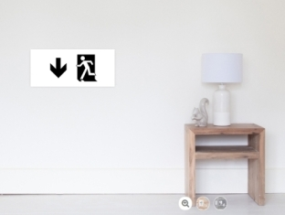Running Man Fire Safety Exit Sign Emergency Evacuation Wall Poster 101
