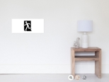 Running Man Fire Safety Exit Sign Emergency Evacuation Wall Poster 102