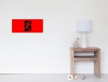 Running Man Fire Safety Exit Sign Emergency Evacuation Wall Poster 108